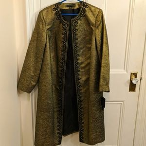 NWT gold jacket dress embroidered